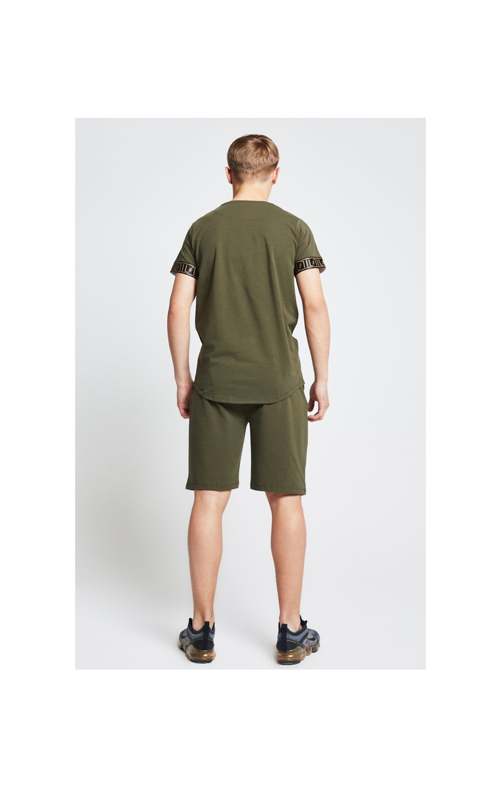 Illusive London Shorts Jersey mit Zierband - Khaki (5)