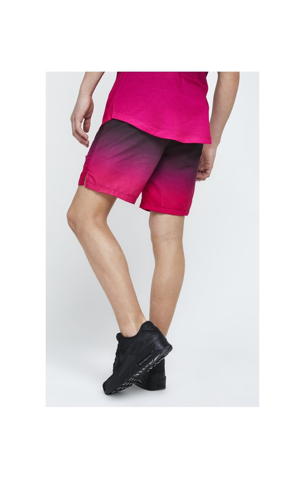 Illusive London Swim Shorts - Black & Pink (3)