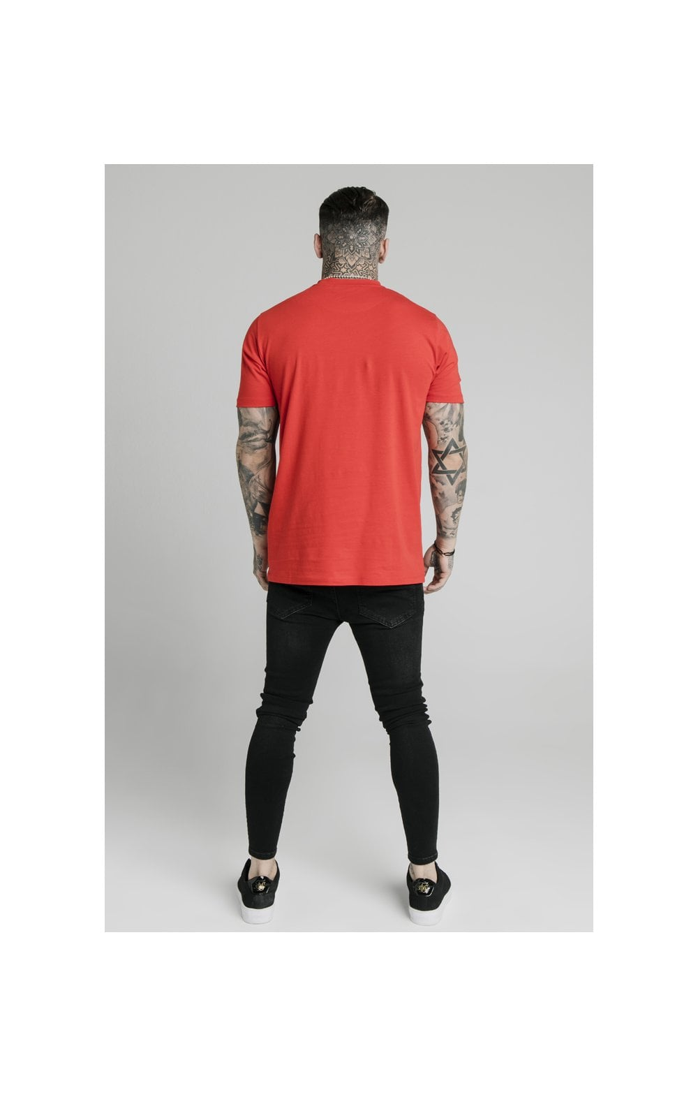 SikSilk S/S Square Hem Tee – Red (4)