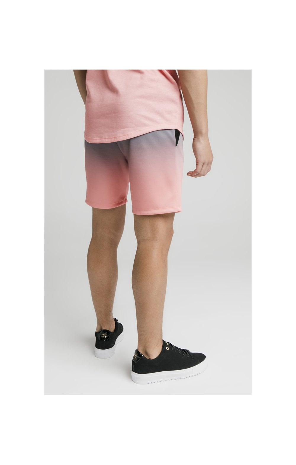 Illusive London Poly Fade Shorts - Grey & Peach (3)