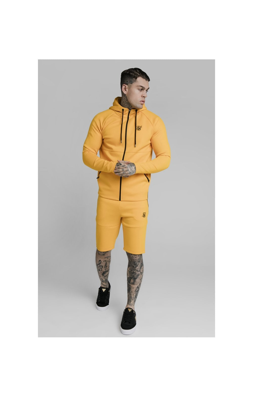 SikSilk Exhibit Zip Through Hoodie - Yellow (2)
