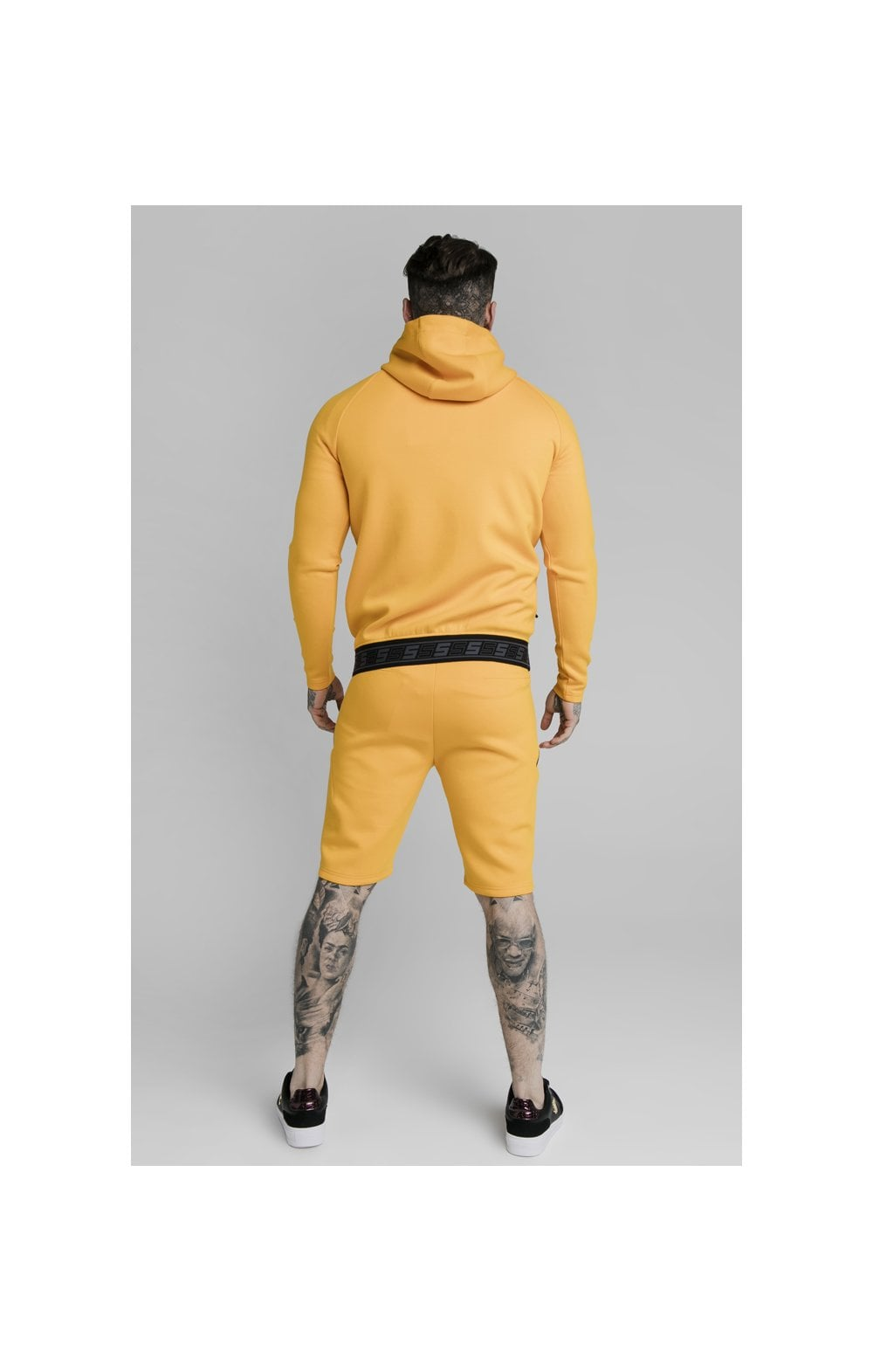 SikSilk Exhibit Zip Through Hoodie - Yellow (3)