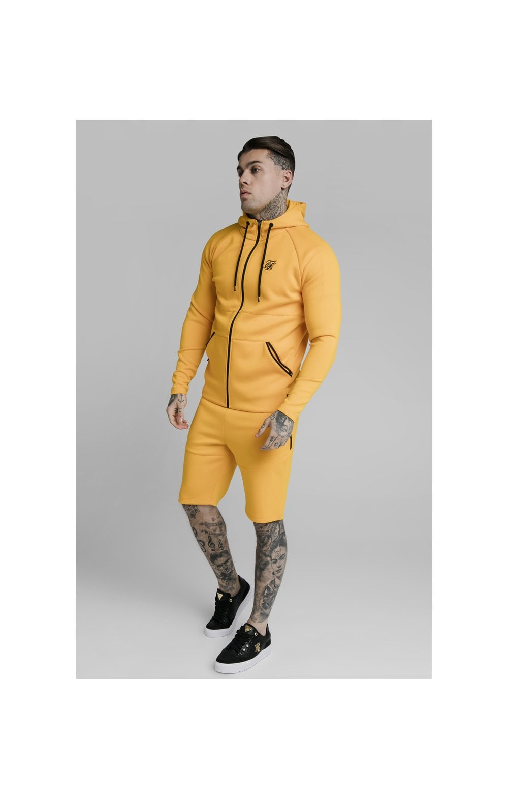 SikSilk Exhibit Zip Through Hoodie - Yellow (5)