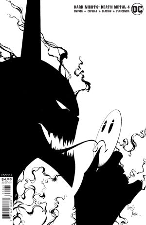 DARK NIGHTS DEATH METAL #4 (OF 7) INC 1:100 GREG CAPULLO & JONATHAN GLAPION BLACK & WHITE VAR