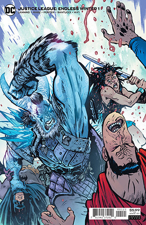 JUSTICE LEAGUE ENDLESS WINTER #1 (OF 2) CVR B DANIEL WARREN JOHNSON CARD STOCK VAR (ENDLESS WINTER)