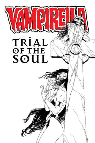 VAMPIRELLA TRIAL OF THE SOUL ONE SHOT CVR B SEARS B&W