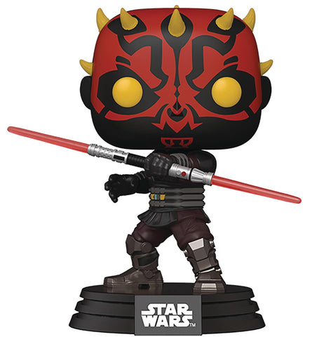 POP STAR WARS CLONE WARS DARTH MAUL VINYL FIG