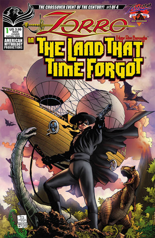 ZORRO IN LAND THAT TIME FORGOT #1 CVR A MARTINEZ