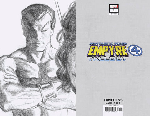 EMPYRE FALLOUT FANTASTIC FOUR #1 TIMELESS VIRGIN SKETCH VAR 1:100