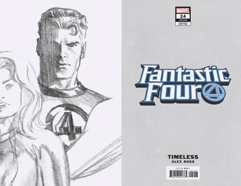 FANTASTIC FOUR #24 MR FANTASTIC TIMELESS VIRGIN SKETCH 1:100