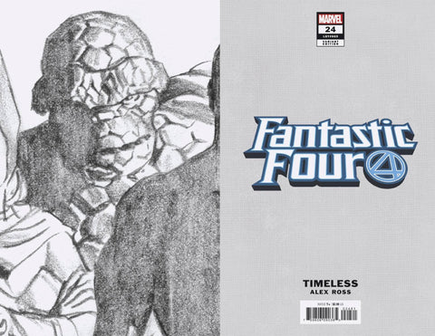 FANTASTIC FOUR #24 ALEX ROSS THING TIMELESS VIRGIN SKETCH 1:100