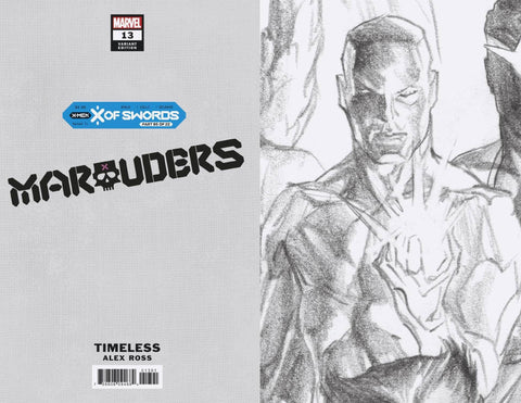 MARAUDERS #13 ALEX ROSS ICEMAN TIMELESS VIRGIN SKETCH VAR 1:100