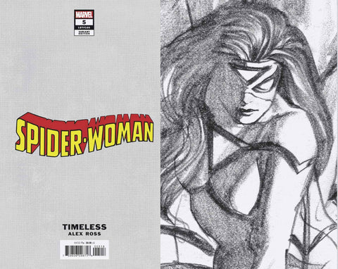 SPIDER-WOMAN #5 ROSS SPIDER-MAN TIMELESS VIRGIN SKETCH VAR 1:100