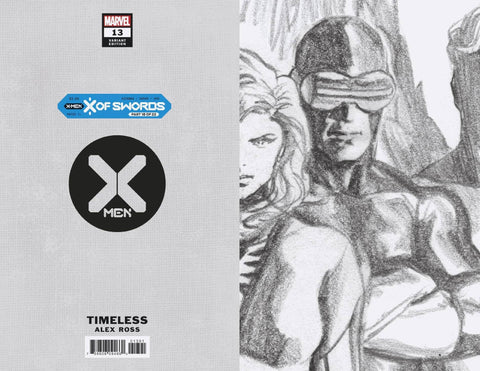X-MEN #13 ALEX ROSS CYCLOPS TIMELESS VIRGIN SKETCH VAR XOS 1:100