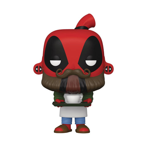 POP MARVEL DEADPOOL 30TH COFFEE BARISTA VIN FIG