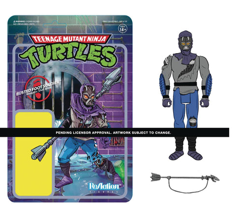 TMNT DAMAGED FOOT SOLDIER W3 REACTION FIGURE