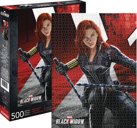 AQUARIUS MARVEL BLACK WIDOW MOVIE 500PC PUZZLE
