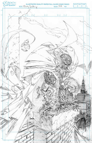 SPAWN #315 CVR D 50 COPY INCV CAPULLO RAW PENCILS