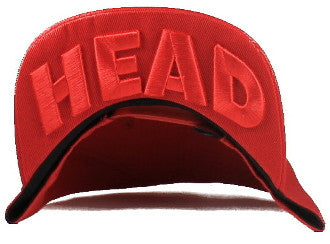 SNKR HEAD ALL Red Snapback Hat