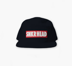 SNKR HEAD 5panel Strapback Hat (black)