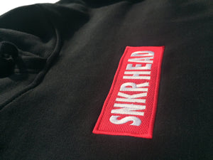 SNKR HEAD Embroidered Box Logo Black Hoodie