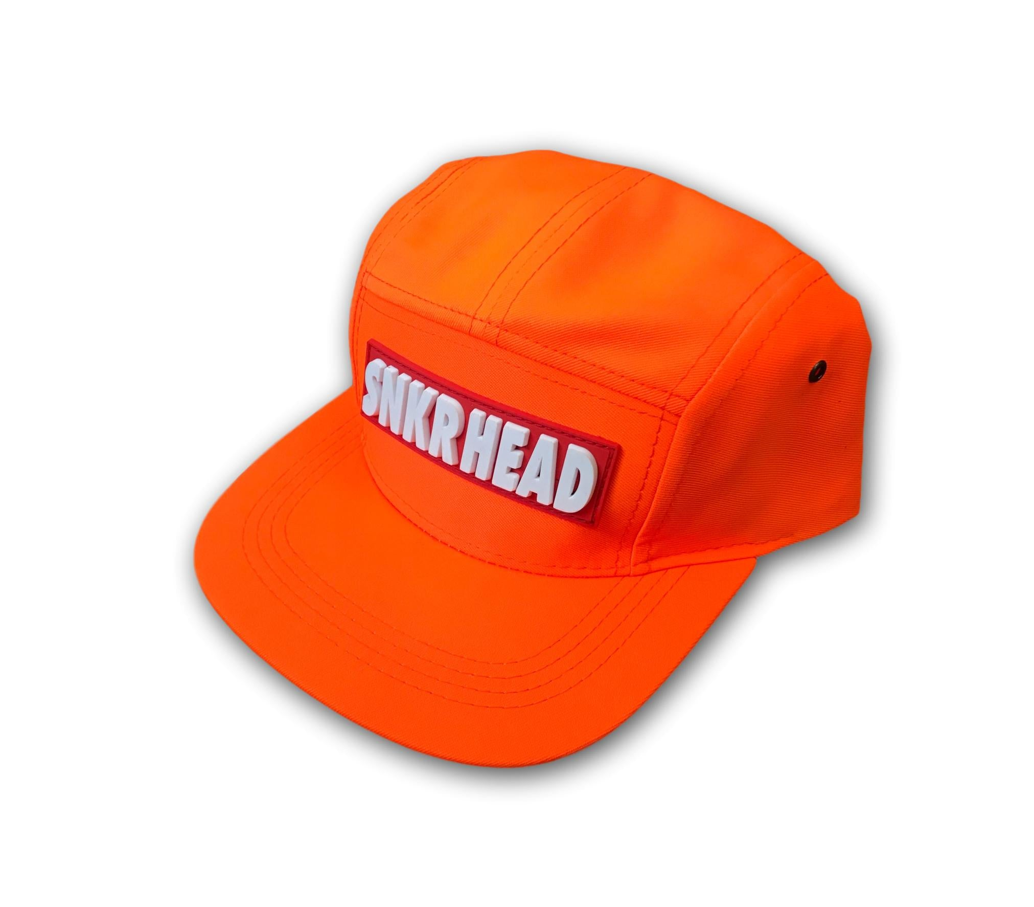 SNKR HEAD 5panel Strapback Hat (orange/red)