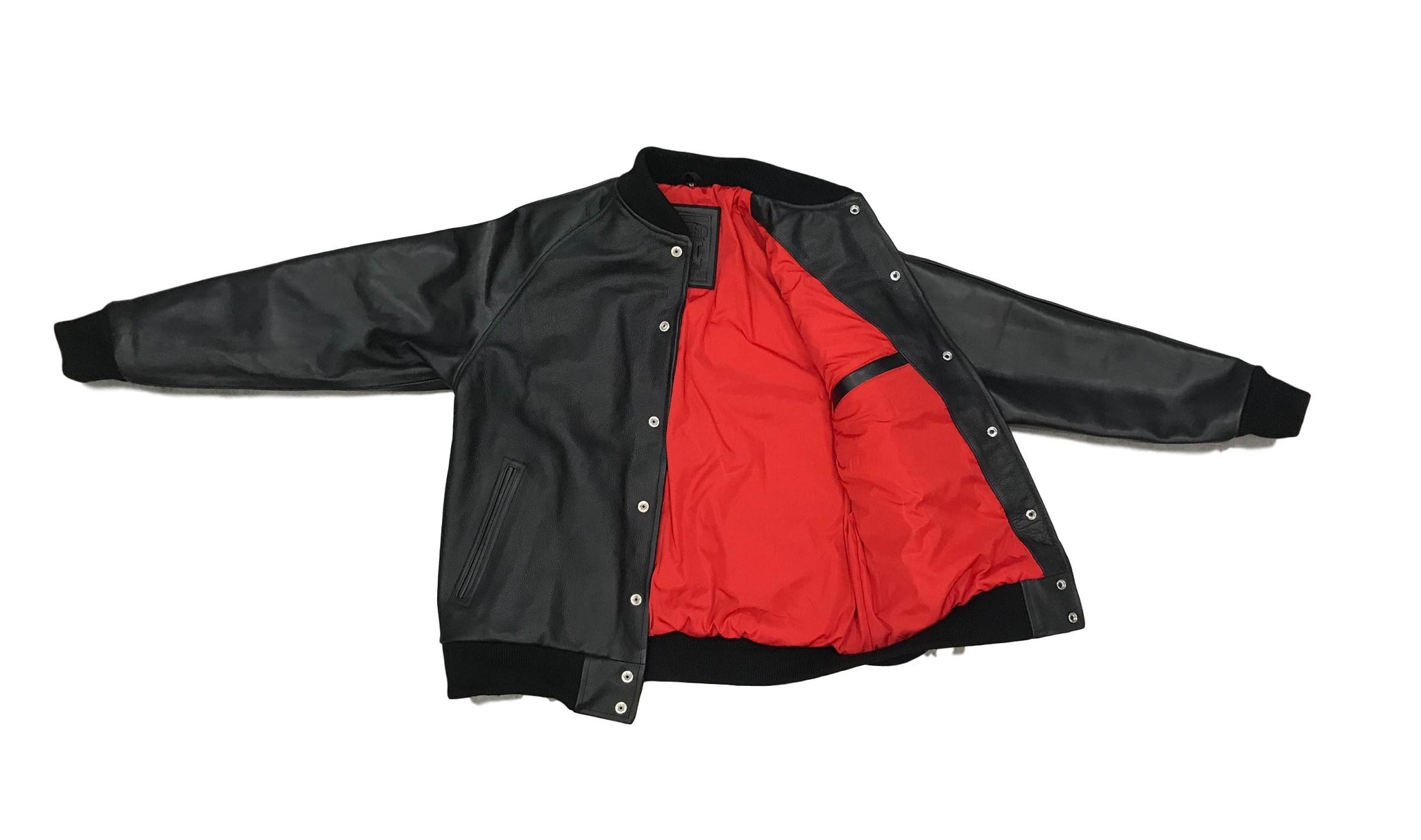 SNKR HEAD Cut & Sew All Leather Baseball Jacket