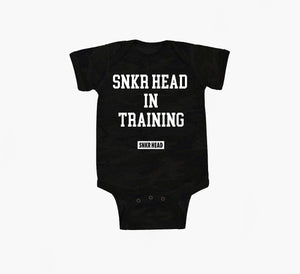 Snkr Head In Training Storm Camo Onesie (white)