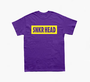 SNKR HEAD Box Logo Tee (Purple/Yellow)