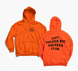 Anti Sneaker Bot Orange Hoodie