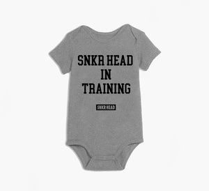 Snkr Head In Training Grey Onesie (black)