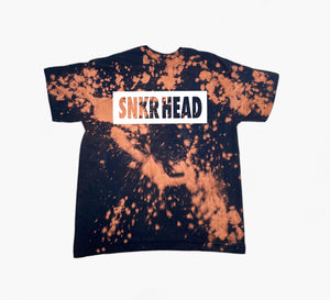SNKR HEAD Bleached Box Logo T-shirt