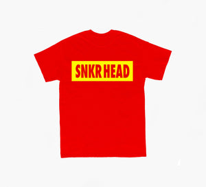 SNKR HEAD Box Logo Red T-shirt (yellow)