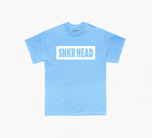 SNKR HEAD Box Logo Tee (carolina blue/white)