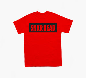SNKR HEAD Box Logo Tee (red/black)