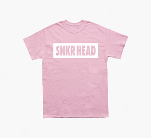 SNKR HEAD Box Logo Pink T-shirt (white)