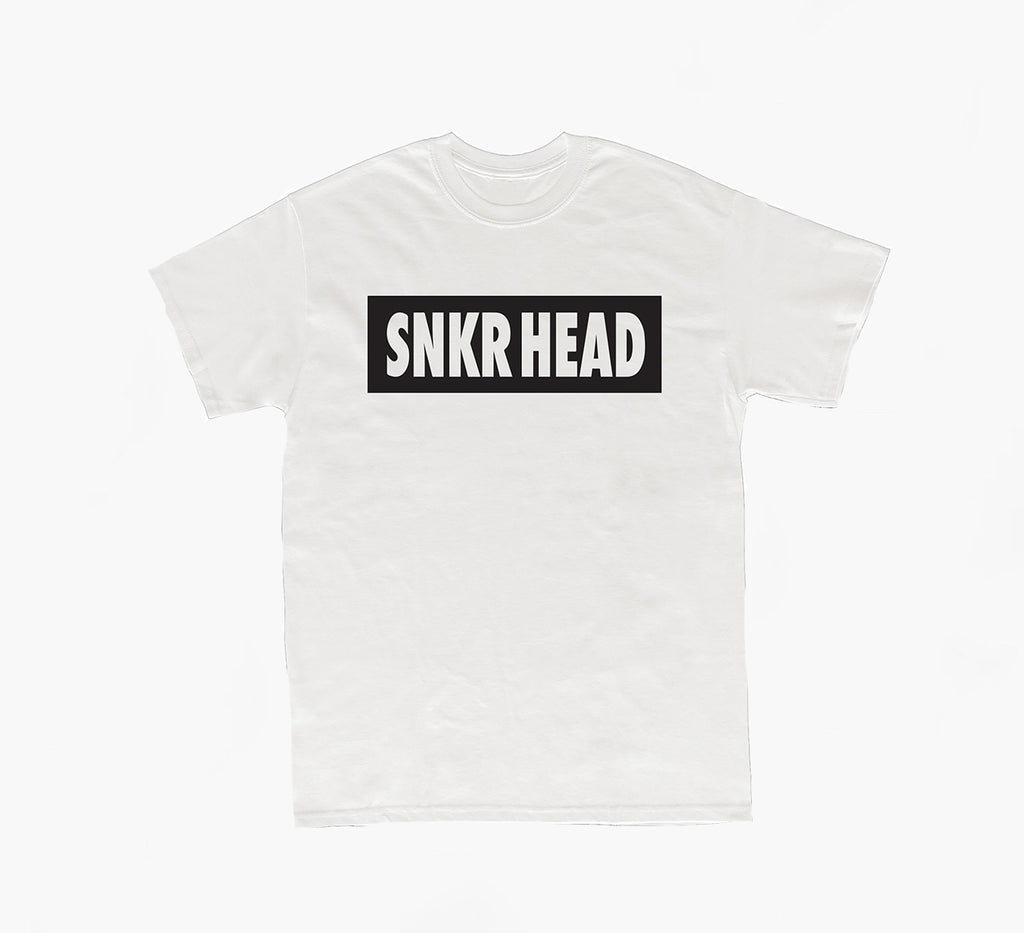 SNKR HEAD Box Logo White T-shirt (black)