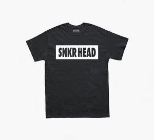 SNKR HEAD Box Logo Black T-shirt (white)