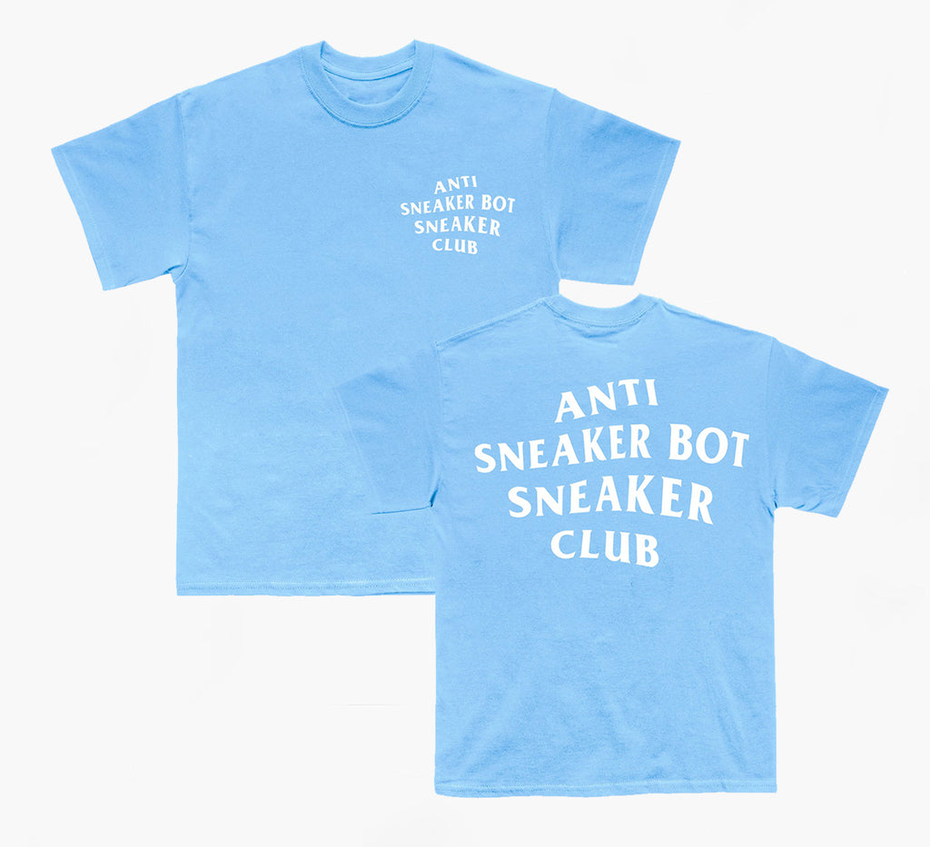 Anti Sneaker Bot Tee (carolina blue)