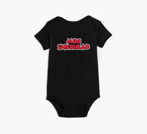 Mini Snkrhead Black Onesie