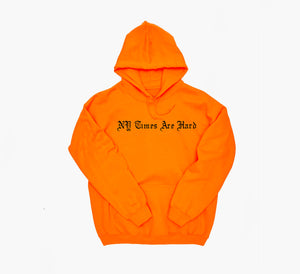 NY Times Are Hard Orange Hoodie
