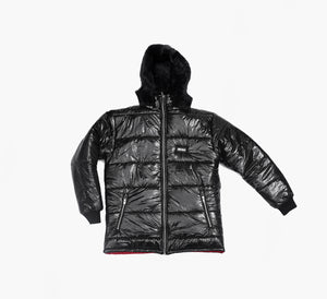 SNKR HEAD Cut & Sew Puffer Quilted Jacket (removable Hood)