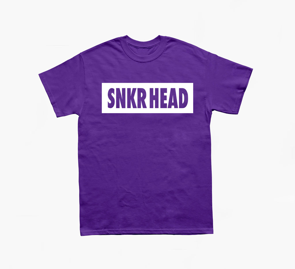 SNKR HEAD Box Logo Purple T-shirt (white)