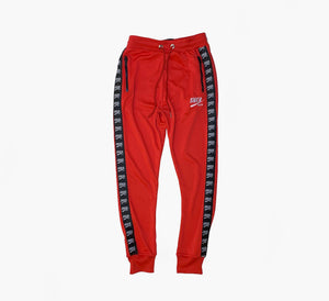 SNKR HEAD Jogger Logo Taped Red Pants