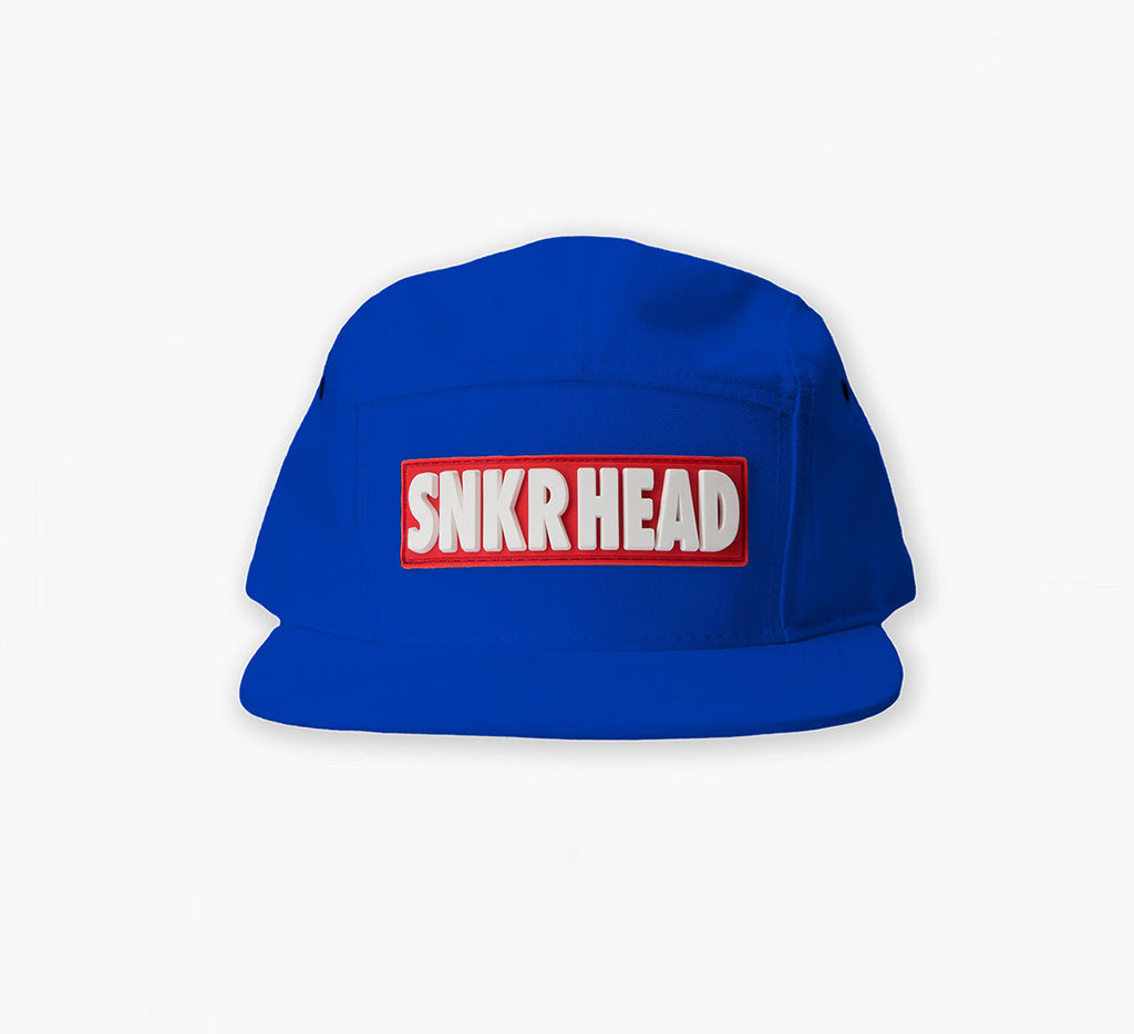 SNKR HEAD 5panel Strapback Hat (royal/red)