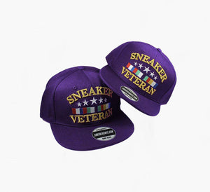 Sneaker Veteran Purple Snapback Hat