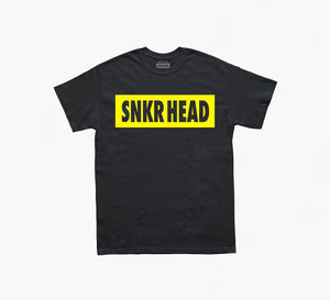 SNKR HEAD Box Logo Black T-shirt (yellow)