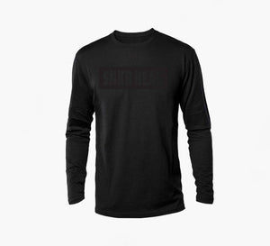 SNKR HEAD Box Logo Black Long Sleeve Shirt (black)