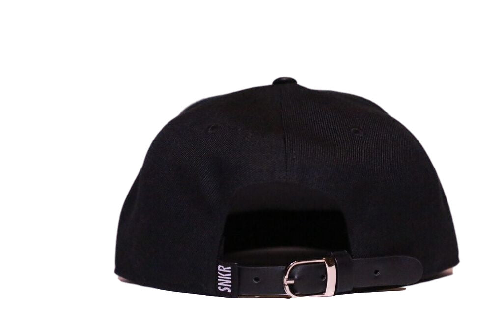 SNKR HEAD Leather Brim Strapback Hat