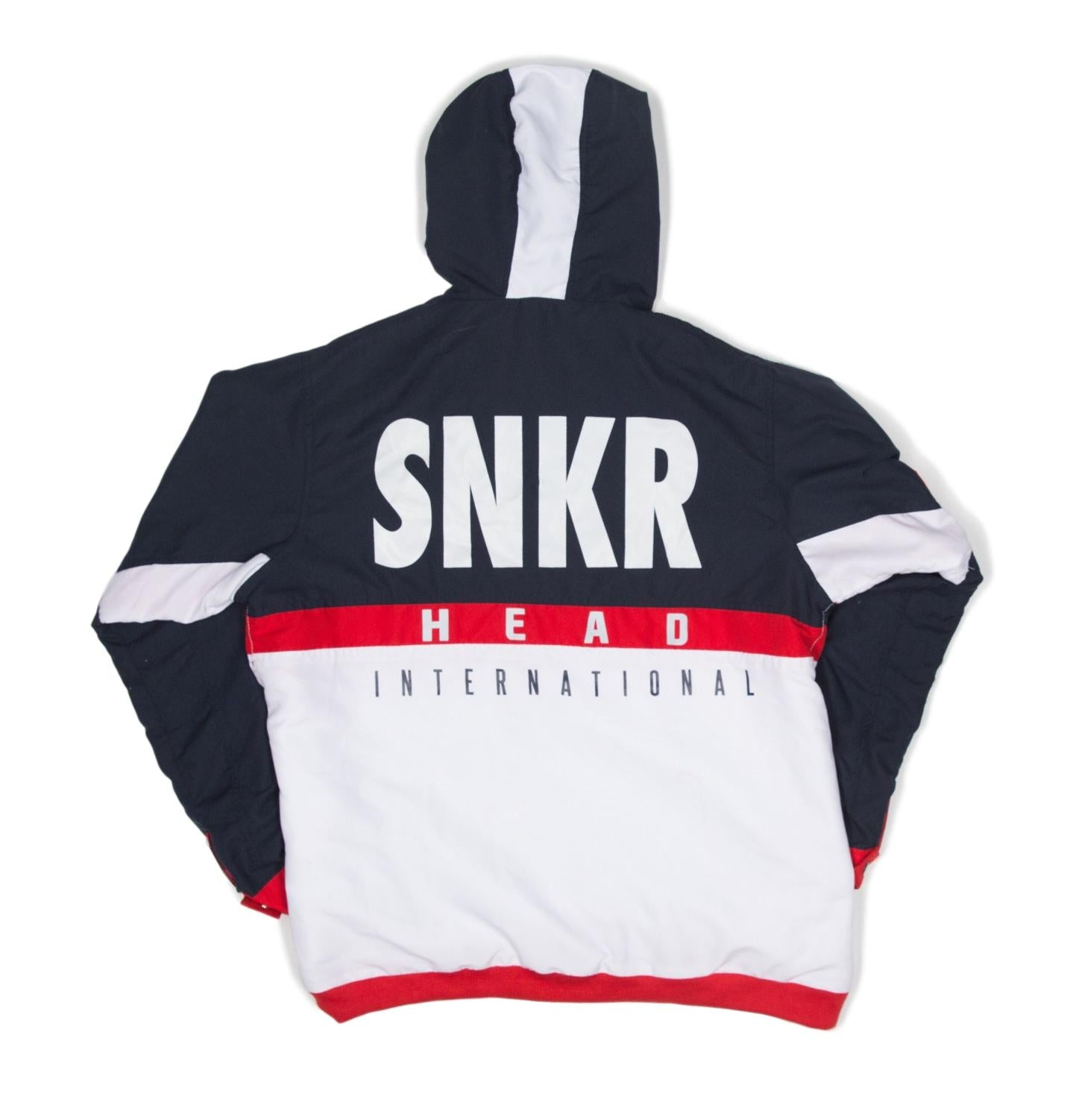 SNKR HEAD Tech-Sport International Windbreaker Jacket (Red, White, Blue)